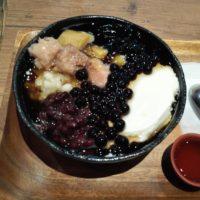 北柏の台湾甜商店 モラージュ柏店にて、豆花、タピオカ、仙草等入の台湾スイーツ 綜合豆花を食べたら、甘さ控えめだった!