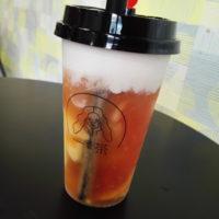 松戸駅東口 タピオカドリンク店 一茶(one TEA)にて、まさかのプリントッピングで岩塩フォームドリンクを味わう!