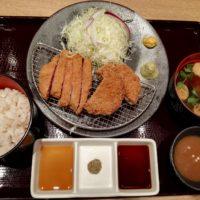 松戸市八ケ崎 京都勝牛 テラスモール松戸店の、牛リブロースカツ 牛メンチカツ膳のランチは食べたことのない味
