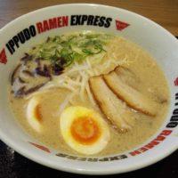テラスモール松戸の博多ラーメン店 IPPUDO RAMEN EXPRESSにて定番とんこつラーメンをいただく!