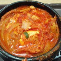 テラスモール松戸の韓国料理bibim'の豚キムチスンドゥブは確かに辛かった!でもうまい!