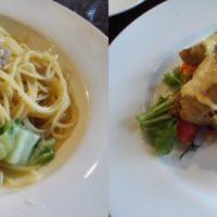 新京成常盤平駅 徒步1分のイタリアン トラットリアルッカにて本日のランチ 鴨と白菜のペペロンチーノをいただく。安心・定番の味!