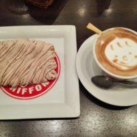 柏駅東口徒歩4分のカフェ マリオシフォンにてモンブランのシフォンケーキと感動のカフェ・ラテでまったり!